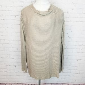 Free People|Lover Cowl Ribbed Pullover Top/Sweater
